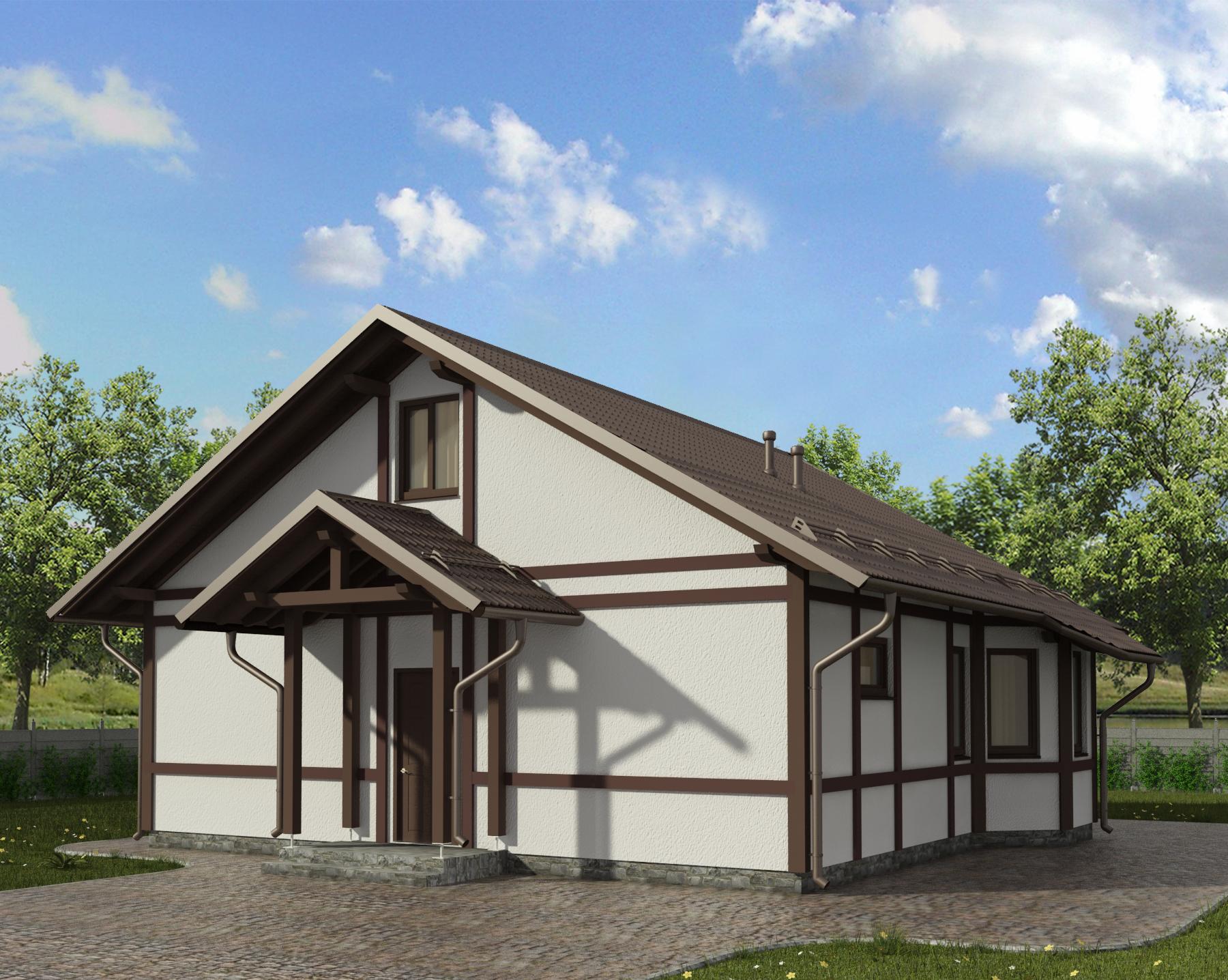 Одноэтажные каркасные дома 9х9